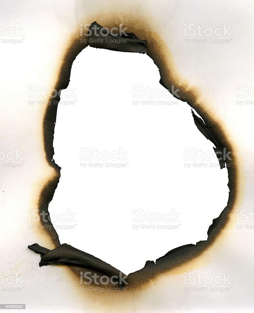Burned royalty-free stock photo