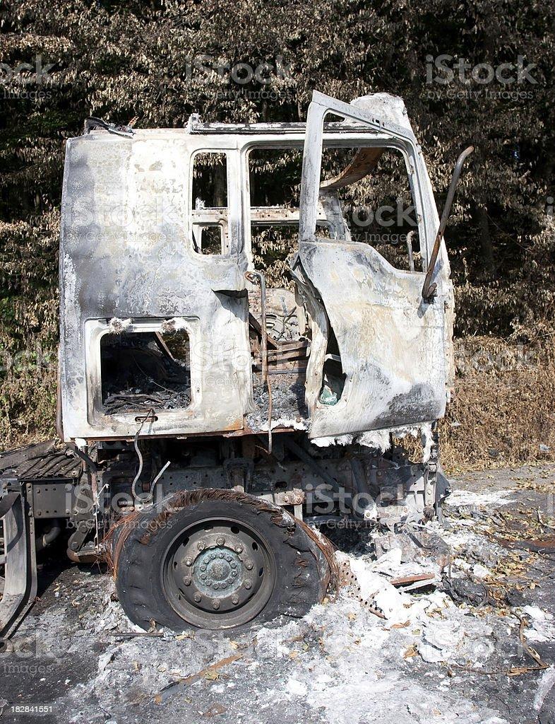 Burned Truck royalty-free stock photo