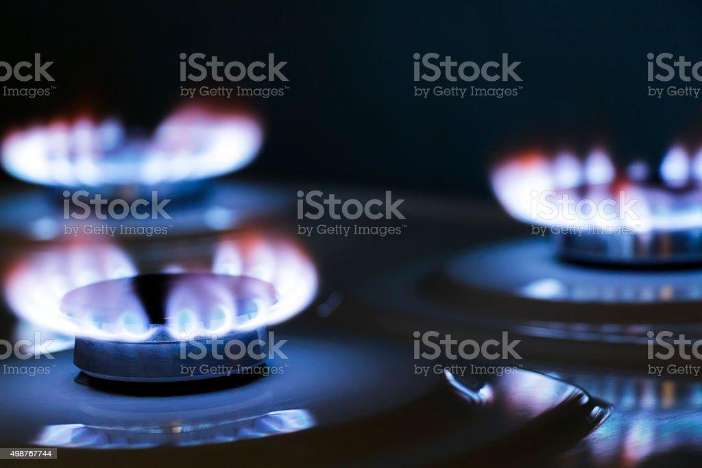 Burner gas stove stock photo