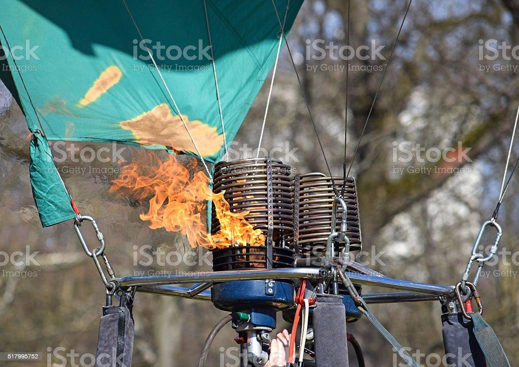 Burner of the hot air balloon stock photo