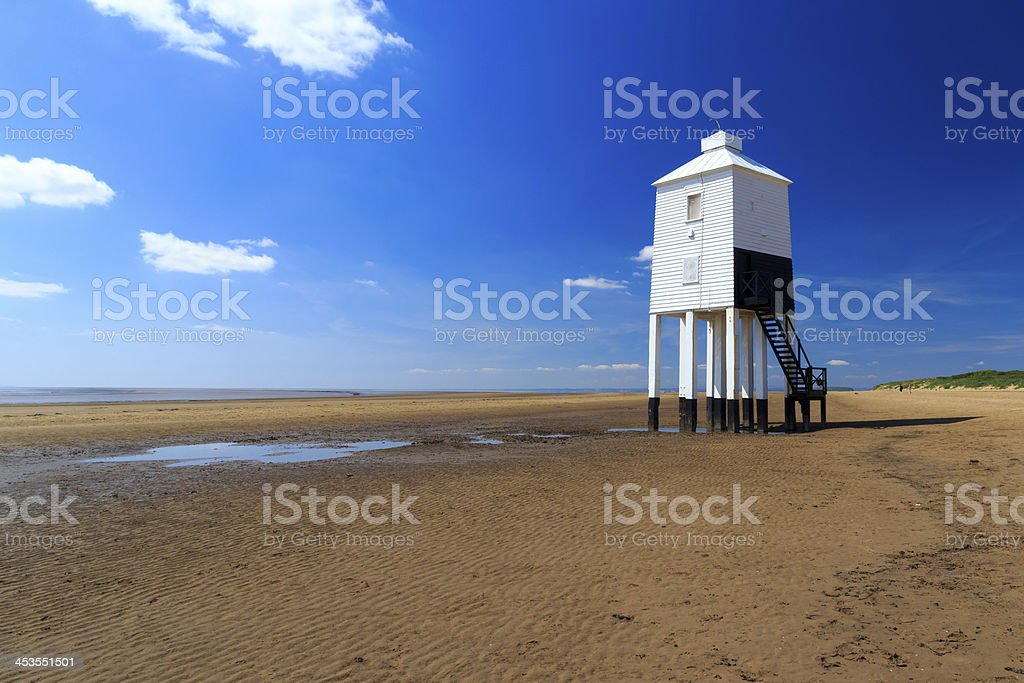 Burnham on Sea Lighthouse stock photo