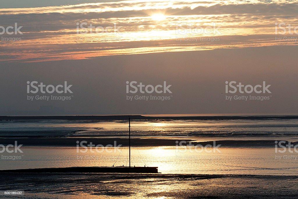 Burnham sul mare al tramonto foto stock royalty-free