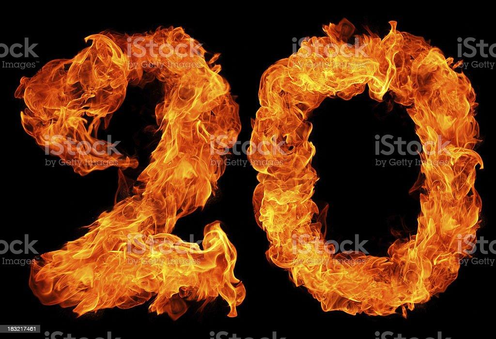 Burning 20 royalty-free stock photo