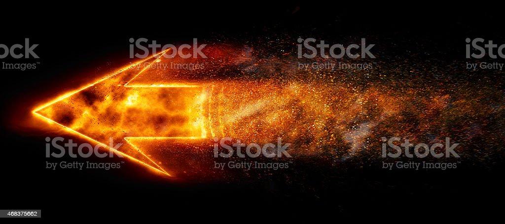 Burning Arrow stock photo