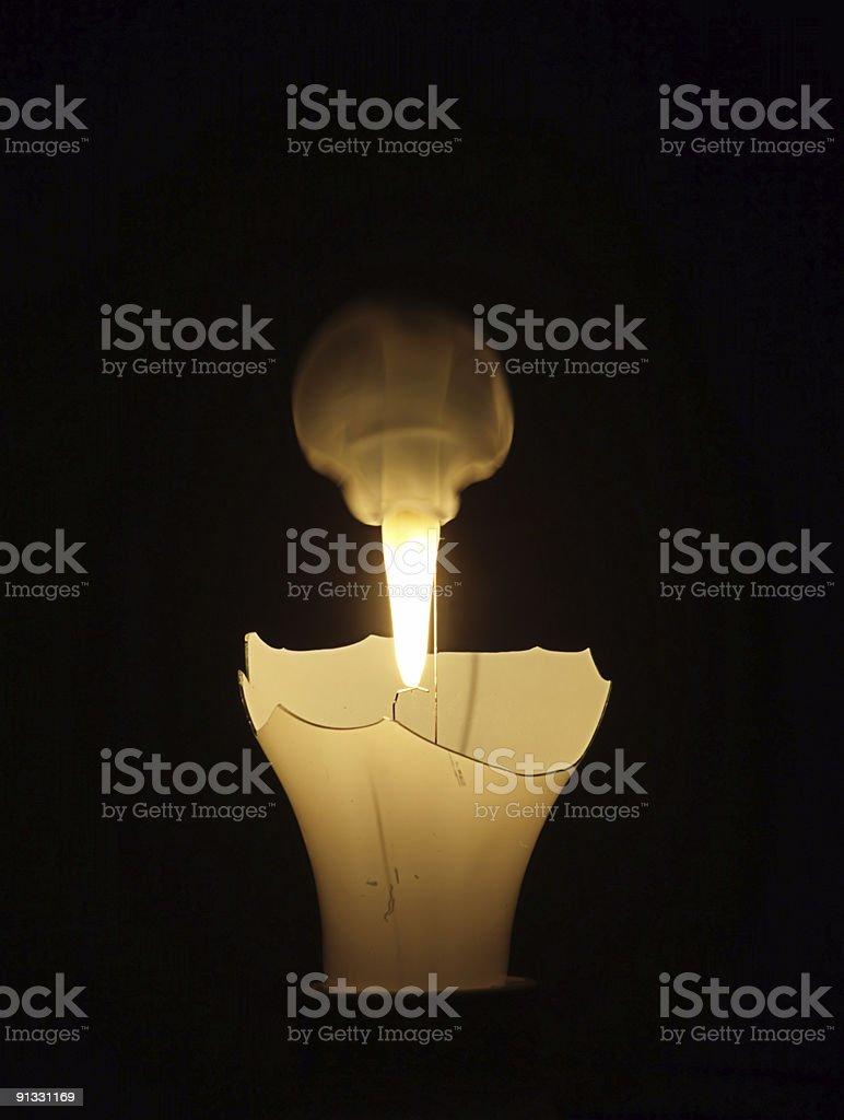 Burning bulb royalty-free stock photo
