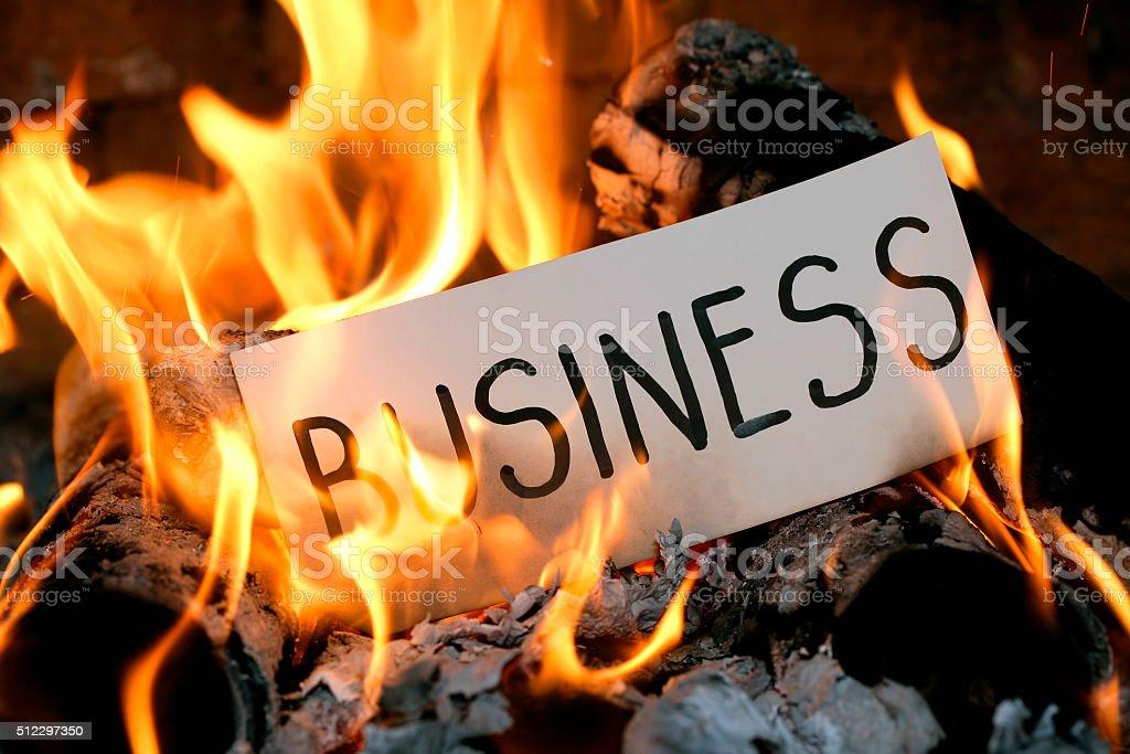 Burning BUSINESS stock photo