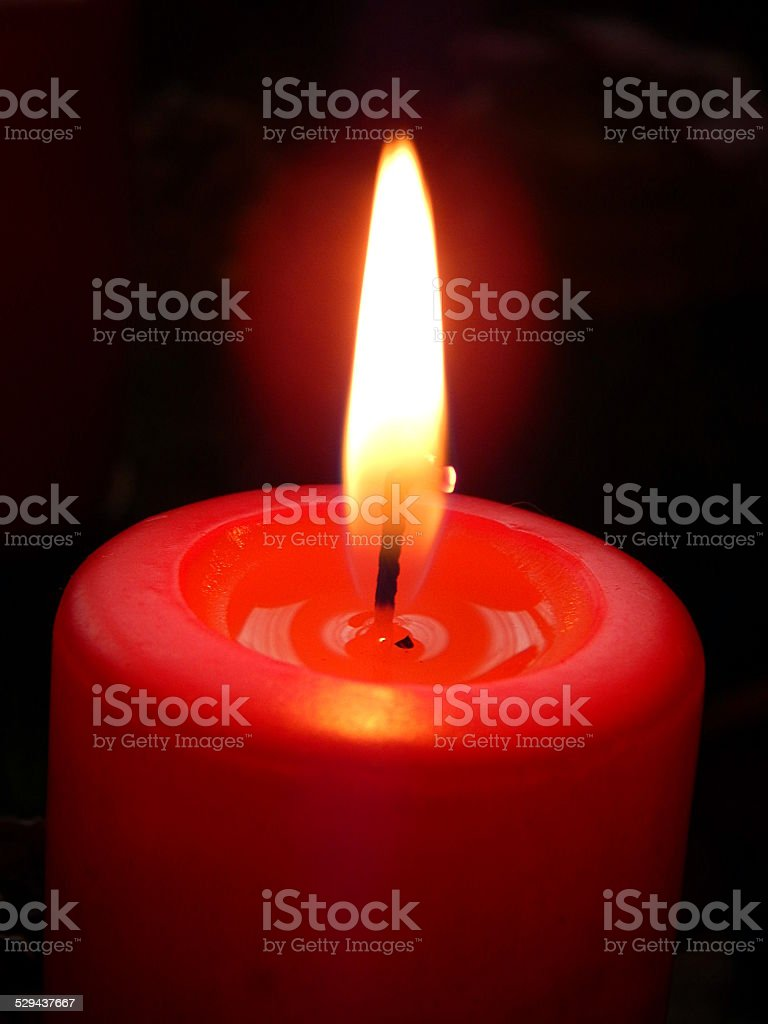 burning candle royalty-free stock photo
