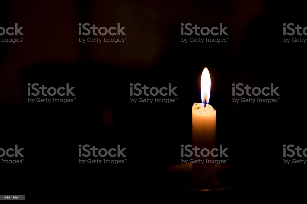 Burning candle stock photo