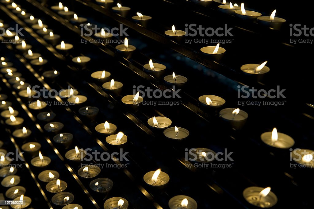 Burning candles royalty-free stock photo