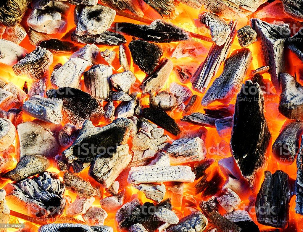 Burning coal royalty-free stock photo