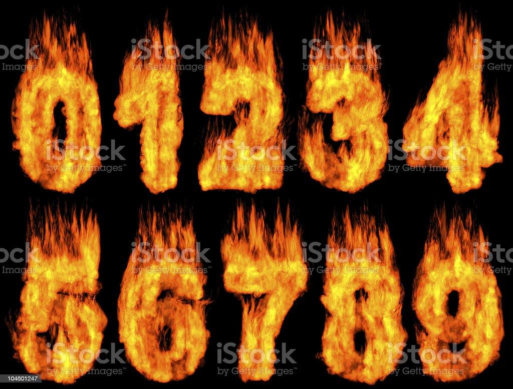Burning Digits royalty-free stock photo