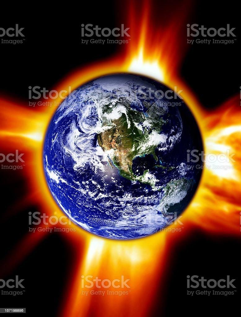 Burning Earth royalty-free stock photo