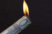 Burning Euro Money