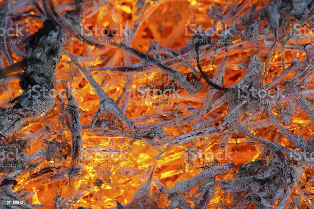 Burning fire flame royalty-free stock photo