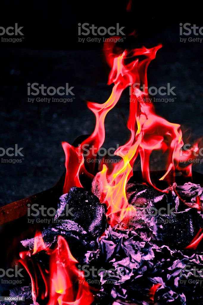 Burning Fire Flame stock photo