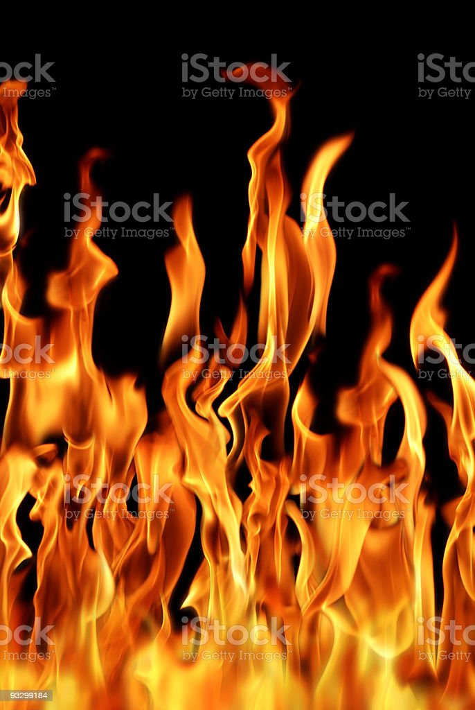 burning fire flames royalty-free stock photo