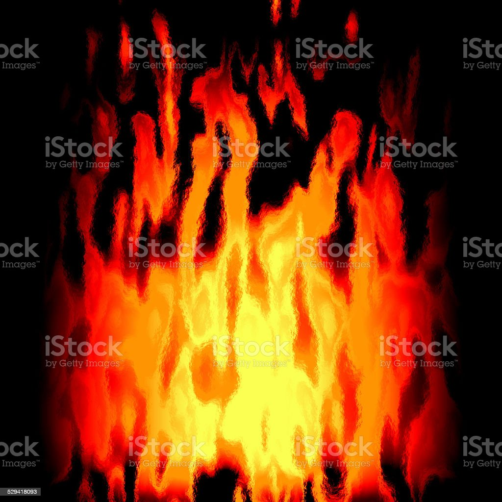 Burning fire generated texture stock photo