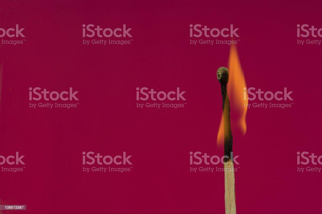 Burning Flame  Matchstick stock photo