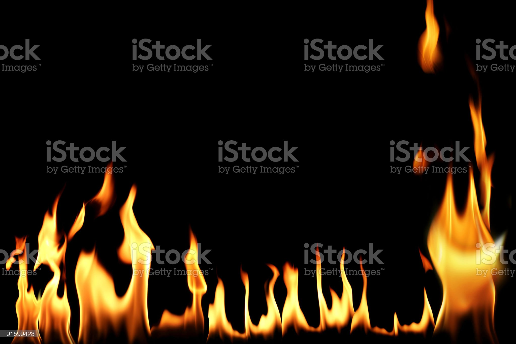 burning flames royalty-free stock photo