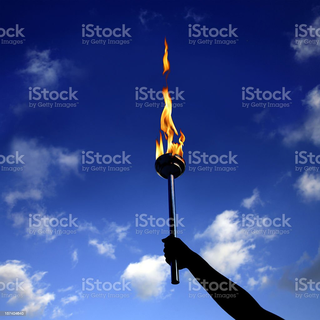 burning flaming torch stock photo