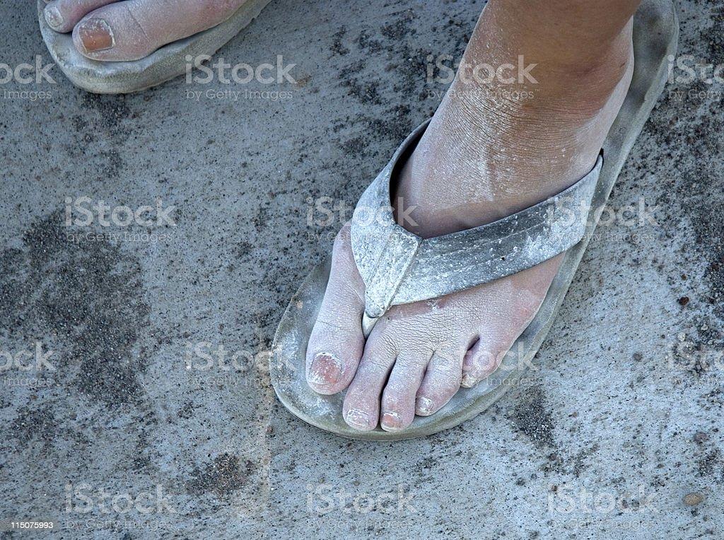 Burning Foot stock photo