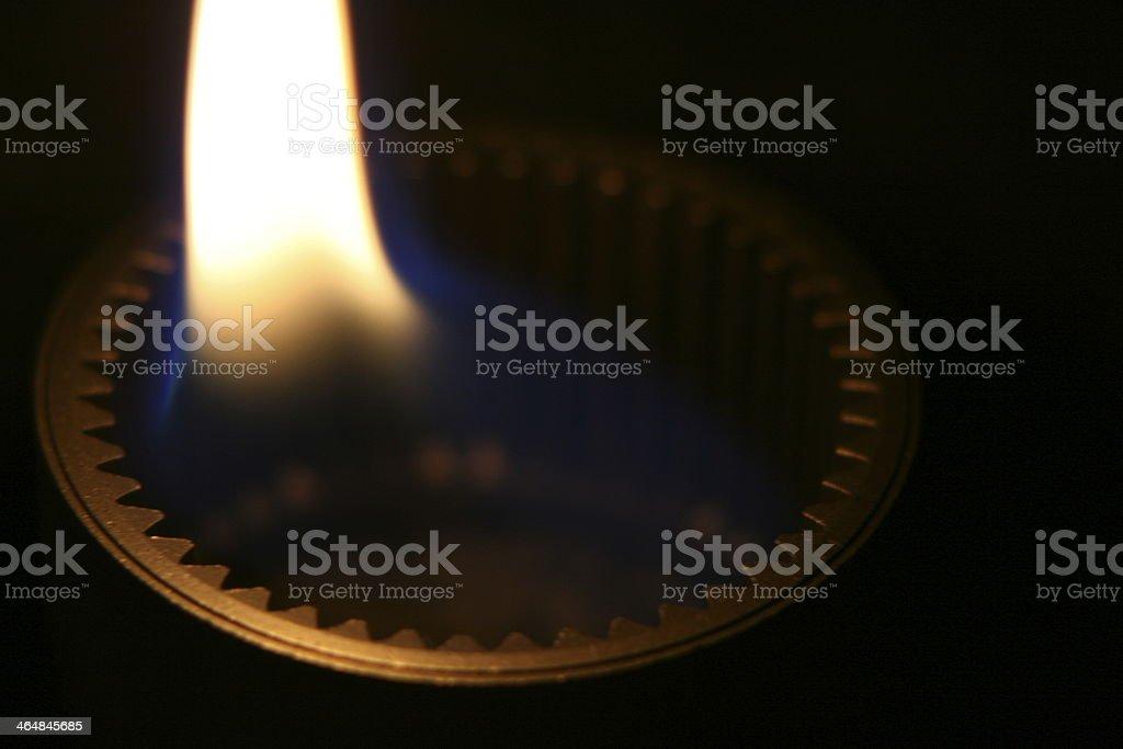 burning gear stock photo