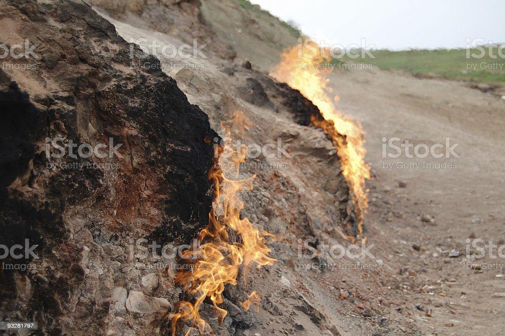 Burning ground royalty-free stock photo