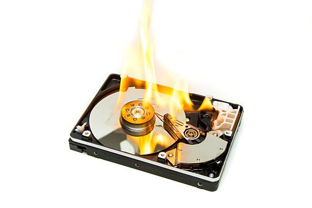 Image result for burning hard drive