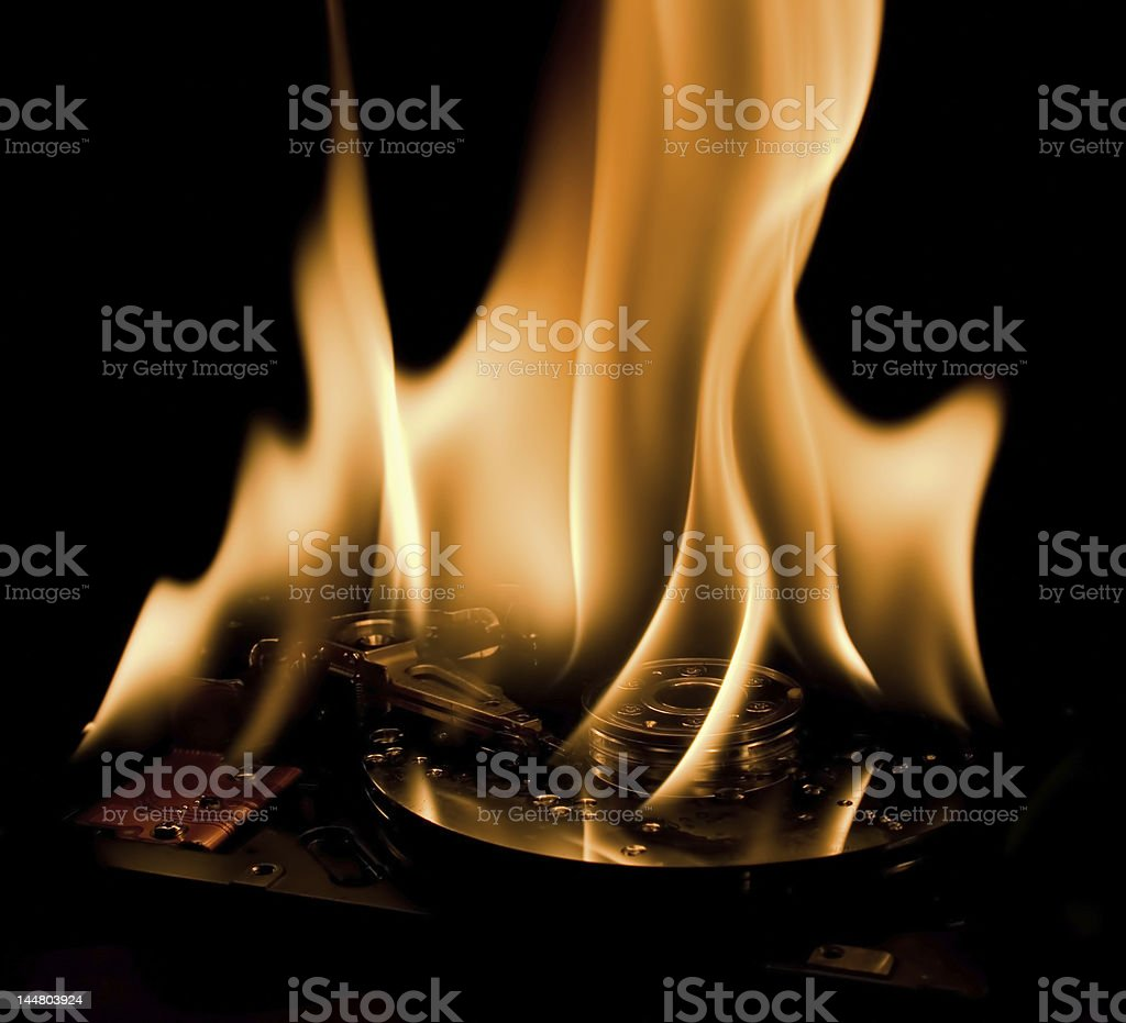 burning hdd 1 royalty-free stock photo