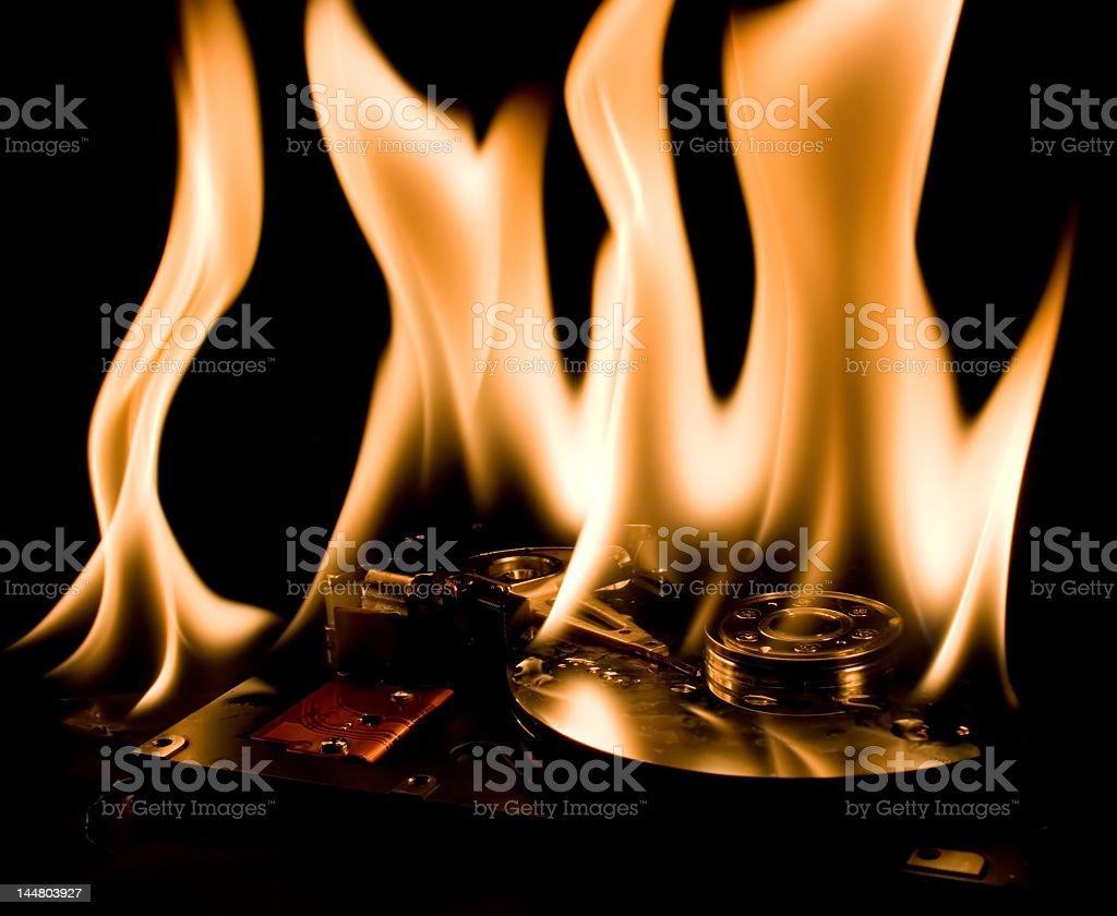 burning hdd 2 royalty-free stock photo