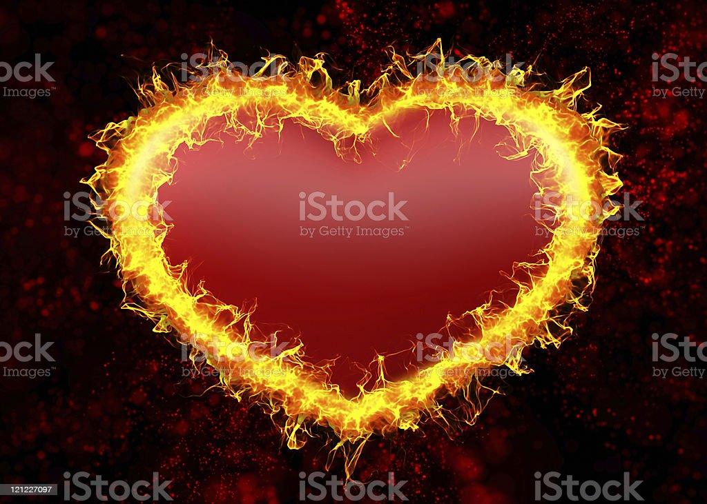 Burning heart. royalty-free stock photo