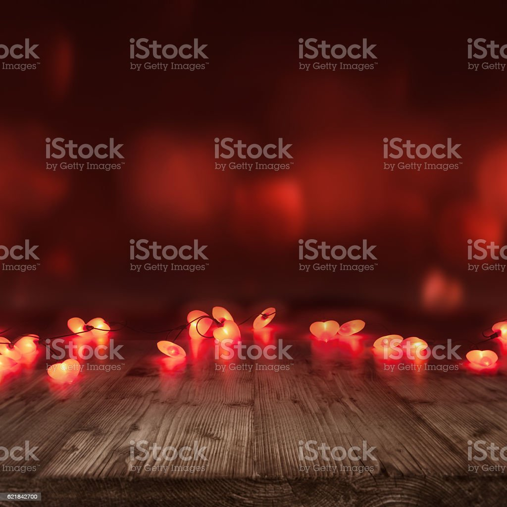 Burning hearts for Valentines day stock photo