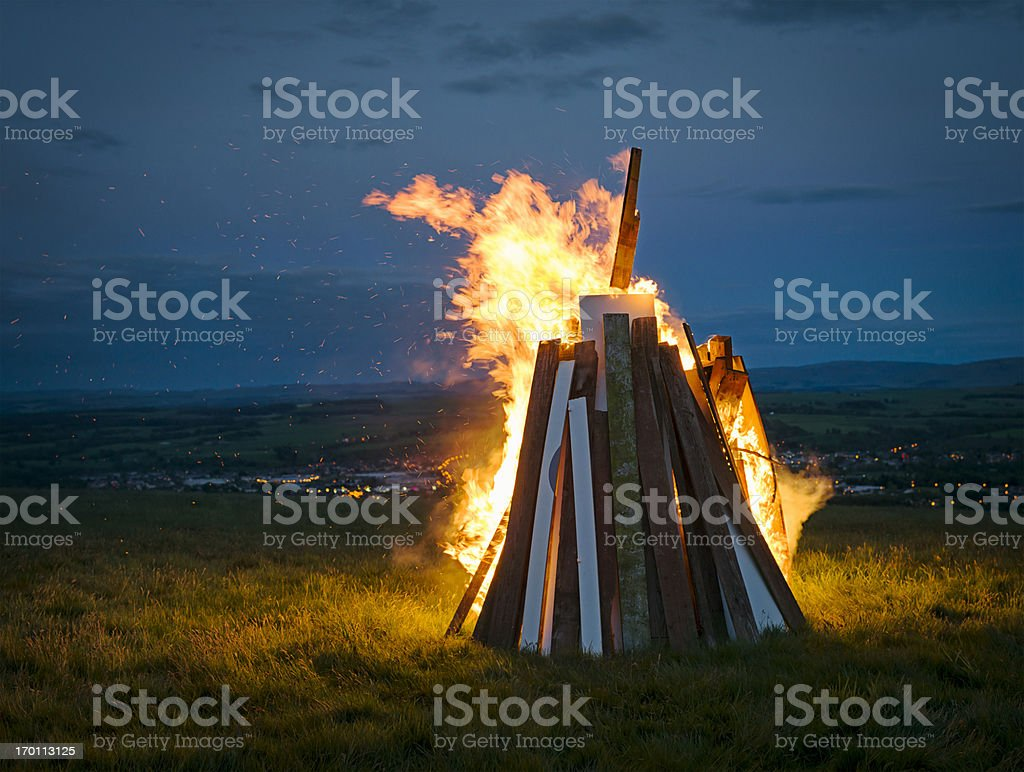 Burning Hill Beacon stock photo