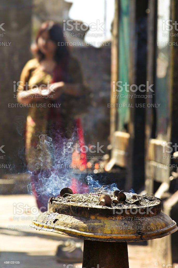 Burning incense royalty-free stock photo