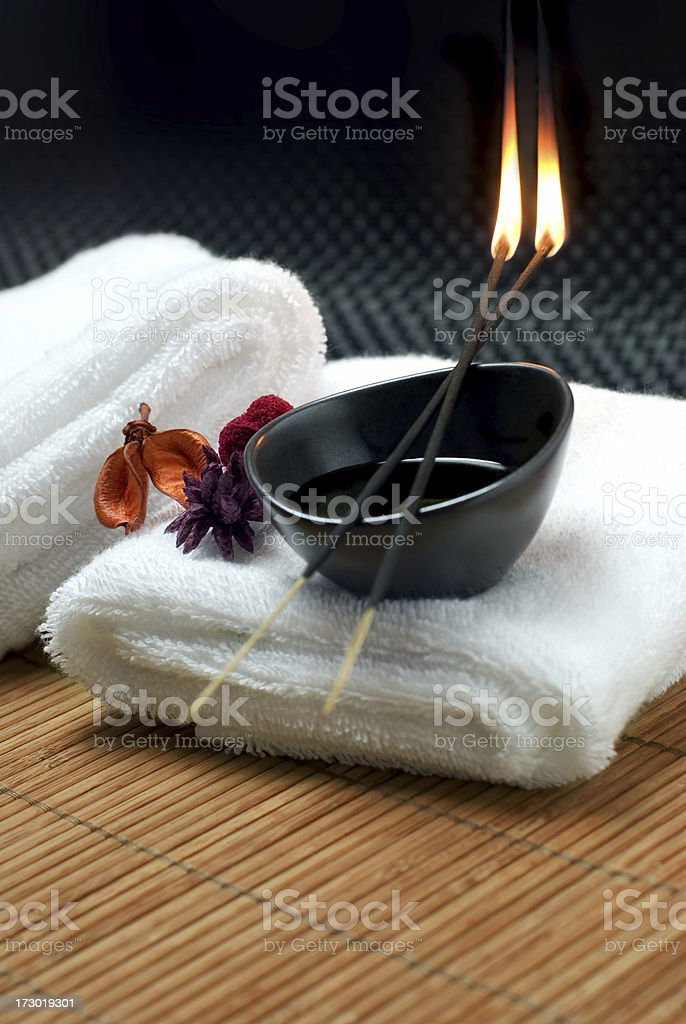 Burning Incense Sticks royalty-free stock photo
