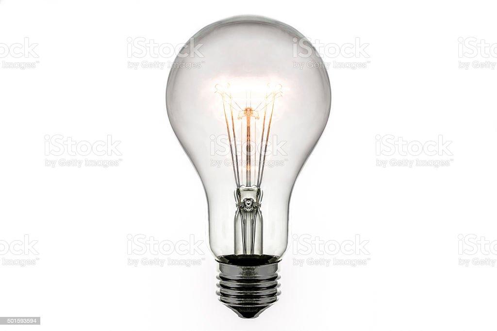 Burning lamp stock photo