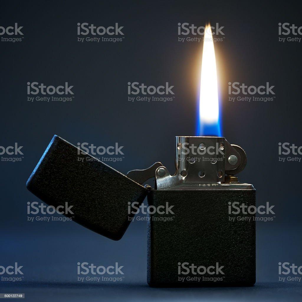 Burning Lighter stock photo