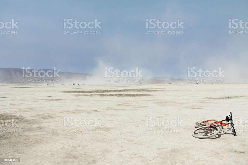 Burning Man - A Dry Wind stock photo