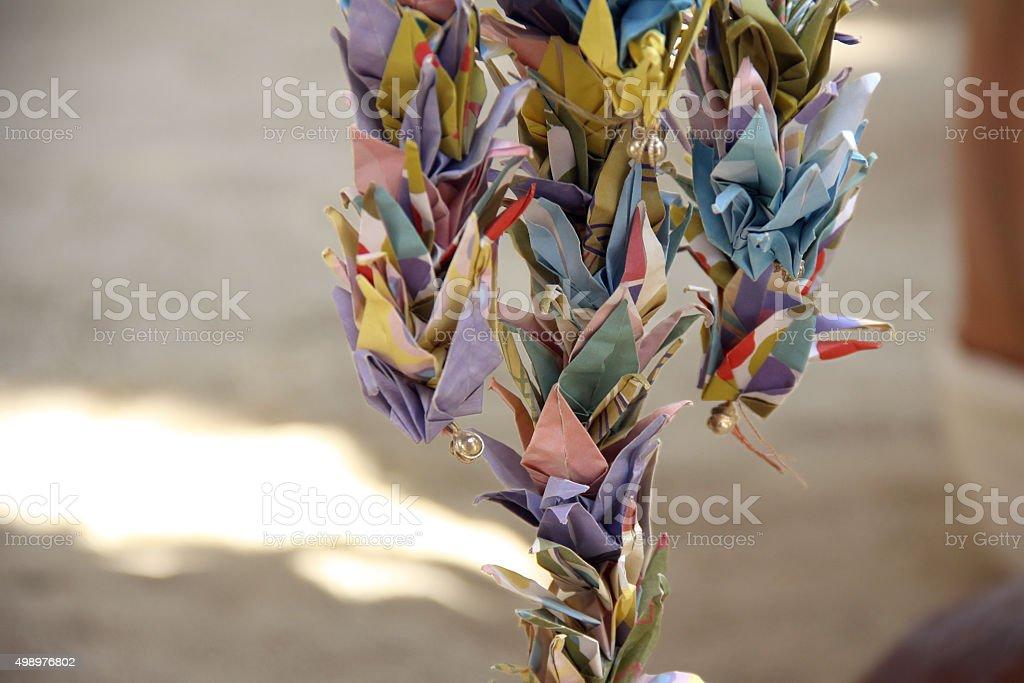 Burning Man - One Thousand Cranes stock photo