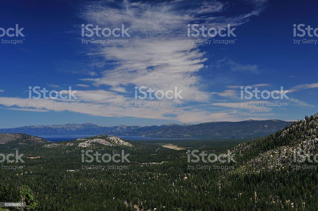 Burning Man Sky - South Lake Tahoe stock photo