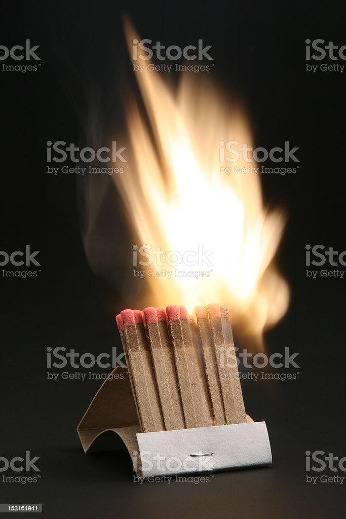 Burning Match. stock photo