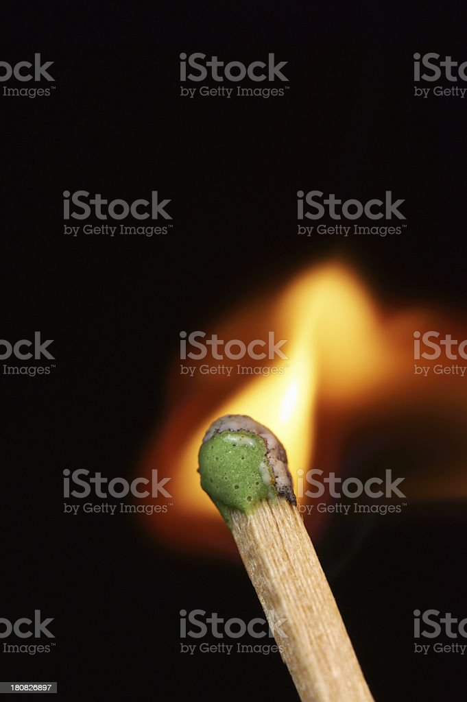 Burning Matchstick royalty-free stock photo