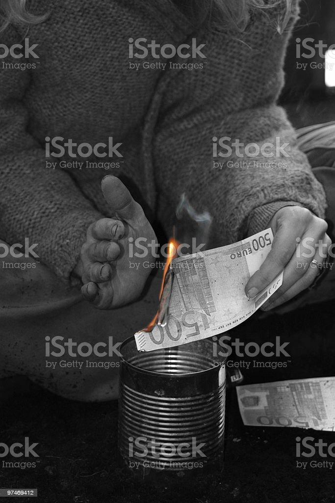 burning money II stock photo