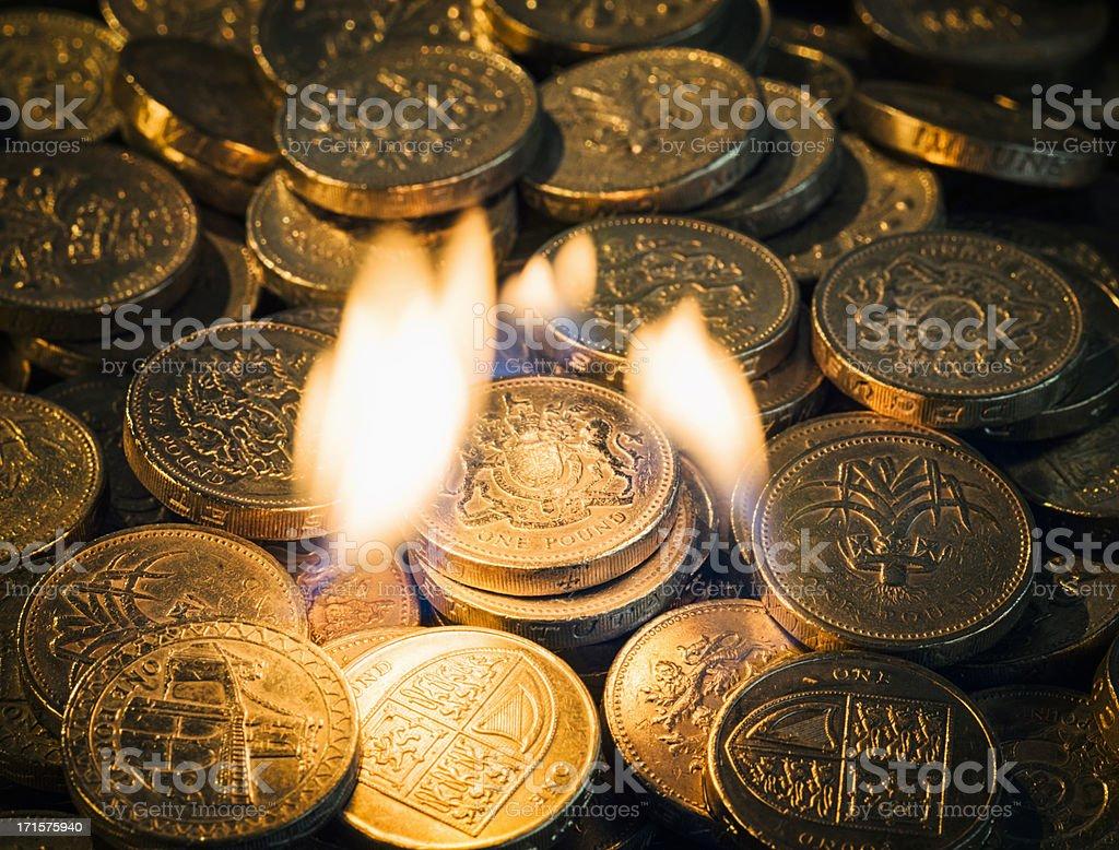 Burning Money royalty-free stock photo