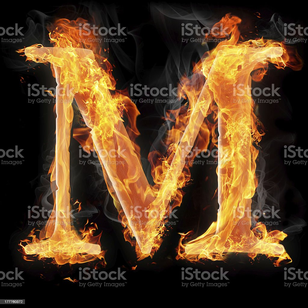 Burning objects and things on fire royalty-free stock photo