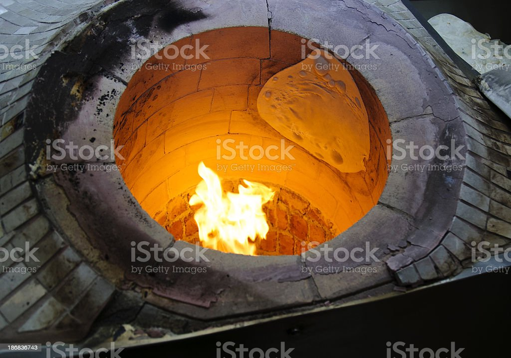 Burning oven stock photo