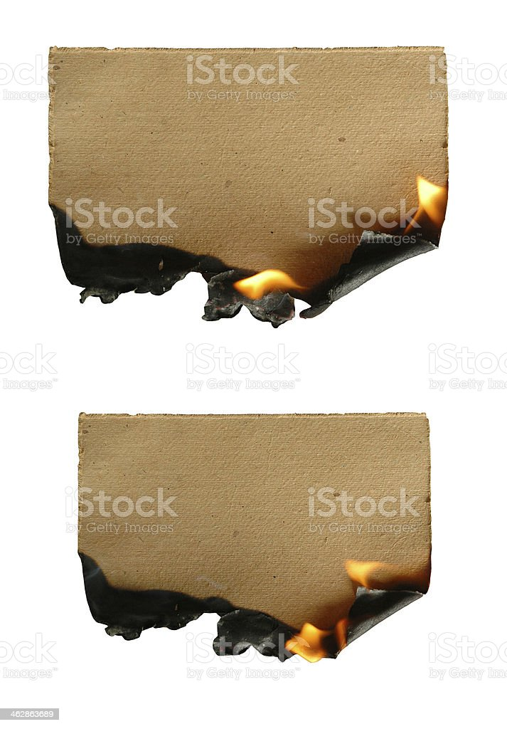 burning paper stock photo