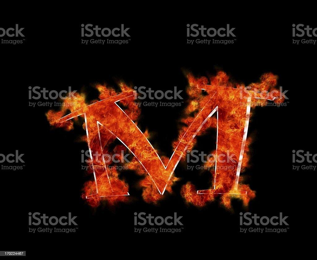 M burning. royalty-free stock photo