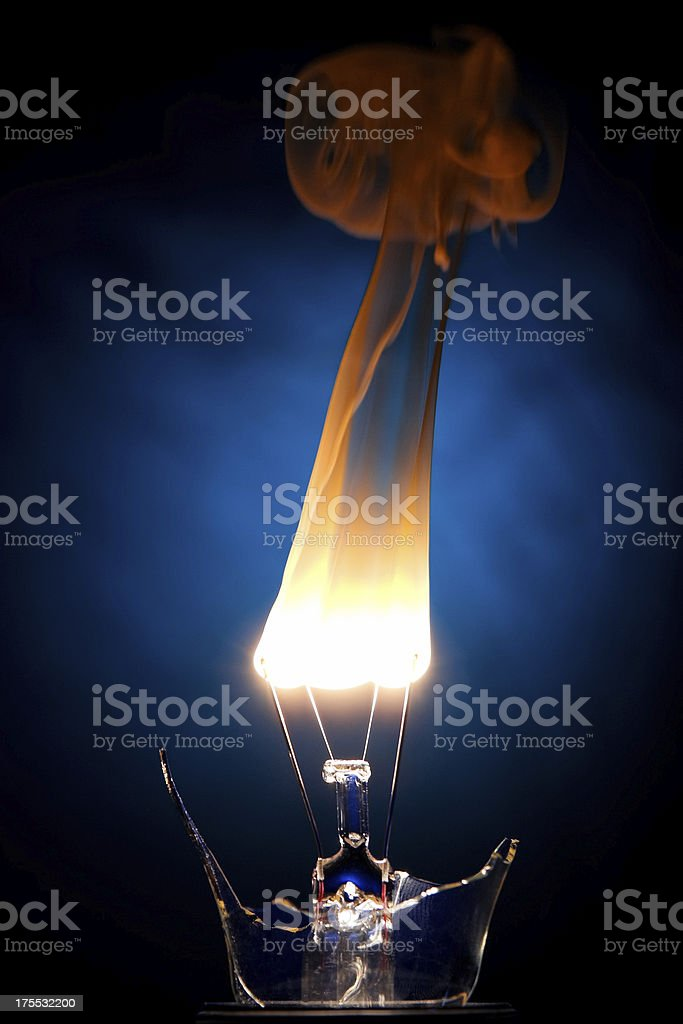 Burning stock photo
