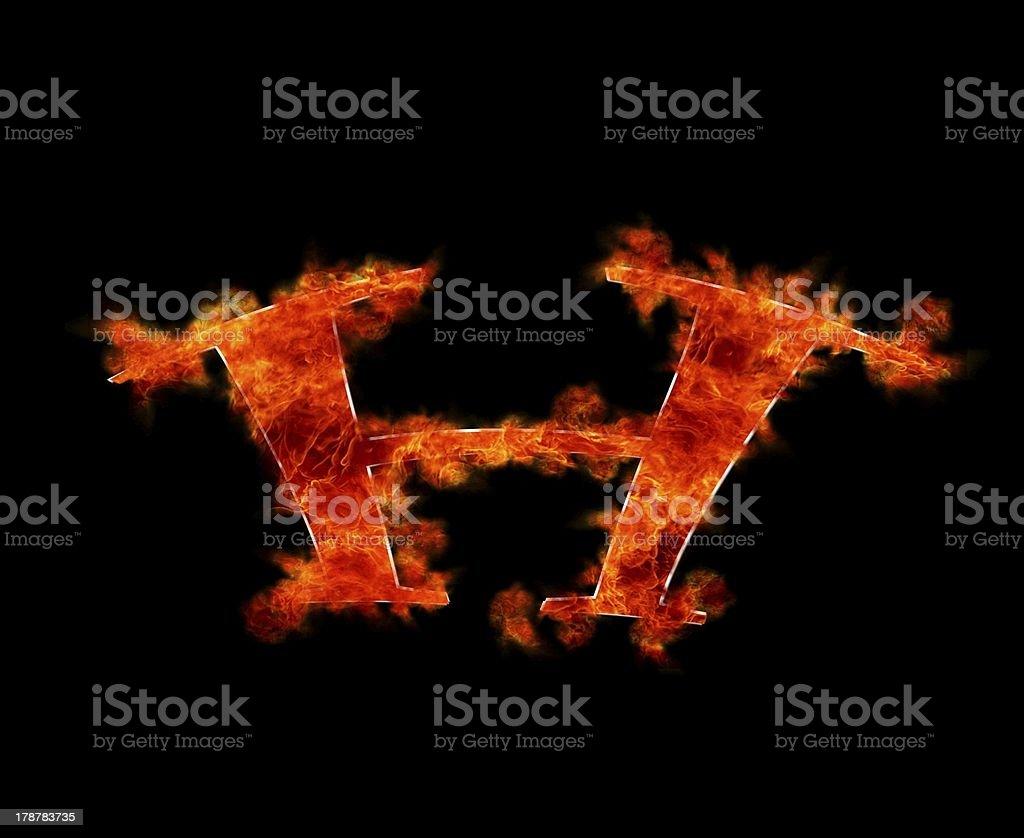 H burning. royalty-free stock photo